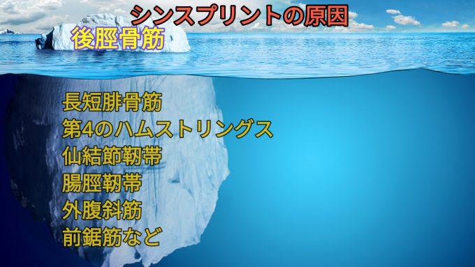 シンスプリントの原因の氷山の一角